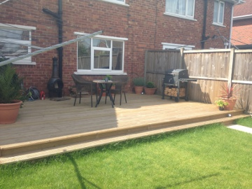 Decking projcts in doncaster by mjs landscapes for Garden decking quotes uk